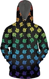 Men Starry Sky Fleece Wool Warm Hoodie Sweatshirt Casual Pullover Galaxy Universe Hoodie Sweater Hooded Sweatshirt Pullover