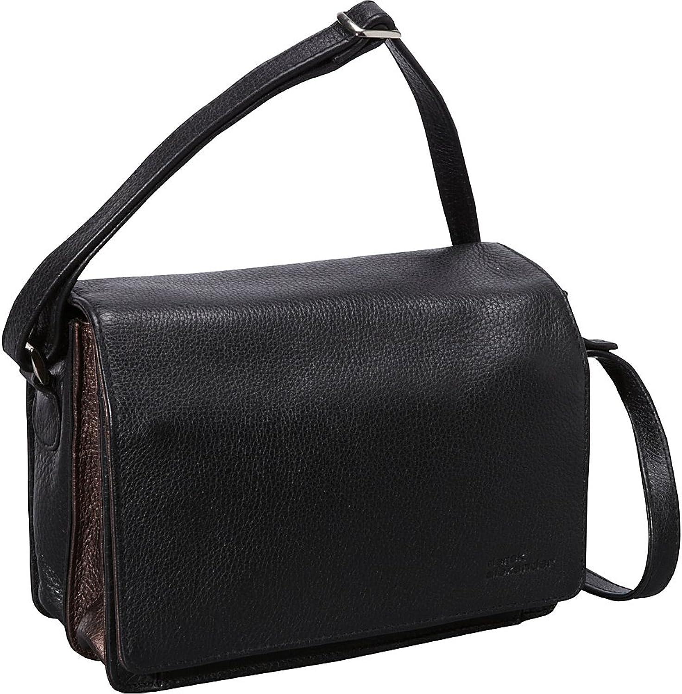 Derek Alexander Full Flap Multi Compartment Organizer Shoulder Bag
