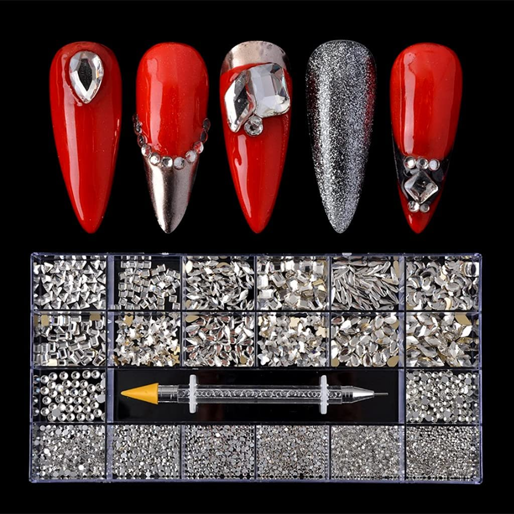 Y-YUNLONG discount 21 Grids Pro Nail Decoration Kit Large special price Dua Multi Shapes with