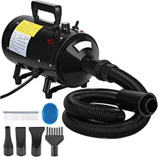 2400W Pet Hair Dryer Dog Drying Cat Dog Grooming Shower Bath Blower Dryer Blaster With Variable Speed Safety Heater Low No...