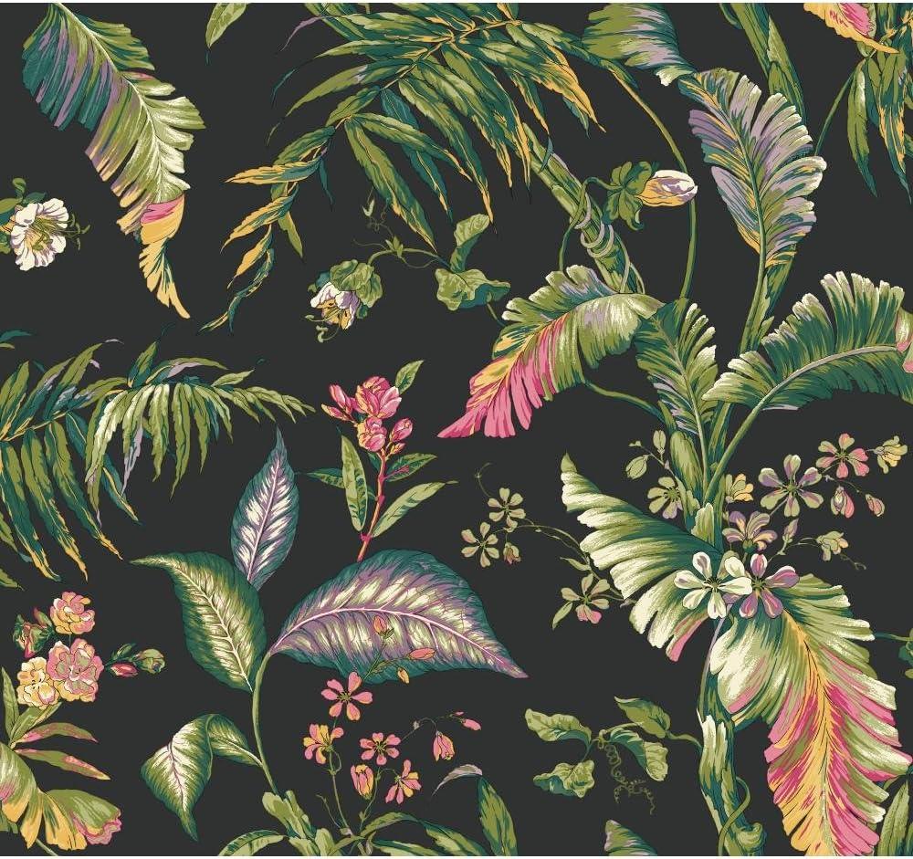 York Columbus Mall Wallcoverings Tropics Fiji Mail order Garden Removable Blac Wallpaper