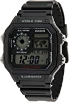 Casio Men's Dial Silicone Band Watch - AE-1200WH-1AVDF