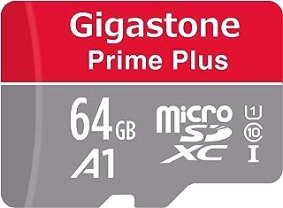 Gigastone Micro SD Card 64GB マイクロSDカード フルHD SDアダプタ付 ミニ収納ケース付 w/adapter and case SDXC U1 C10 90MB/S 高速 micro sd カード Class 1...