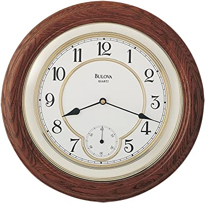 Bulova William Deco Wall Clock - C4596