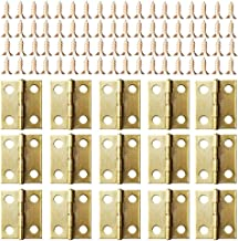 Kleine mini scharnieren, 50 packs kast lade deur borst butt scharnieren connectoren met 200 stuks 8 mm mini messing scharn...