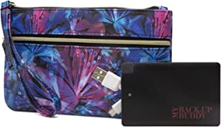 Back Up Buddy Womens Wallet Charging Wristlet RFID Blocking With Portable External Phone Battery