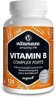 Vitamina B Complex. altamente concentrada. 120 comprimidos veganos. todas las vitaminas B sin estearato