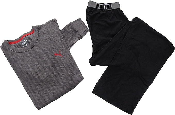 Puma Ensemble pyjama L/S pour homme Taille S - Black/Grey, size ...