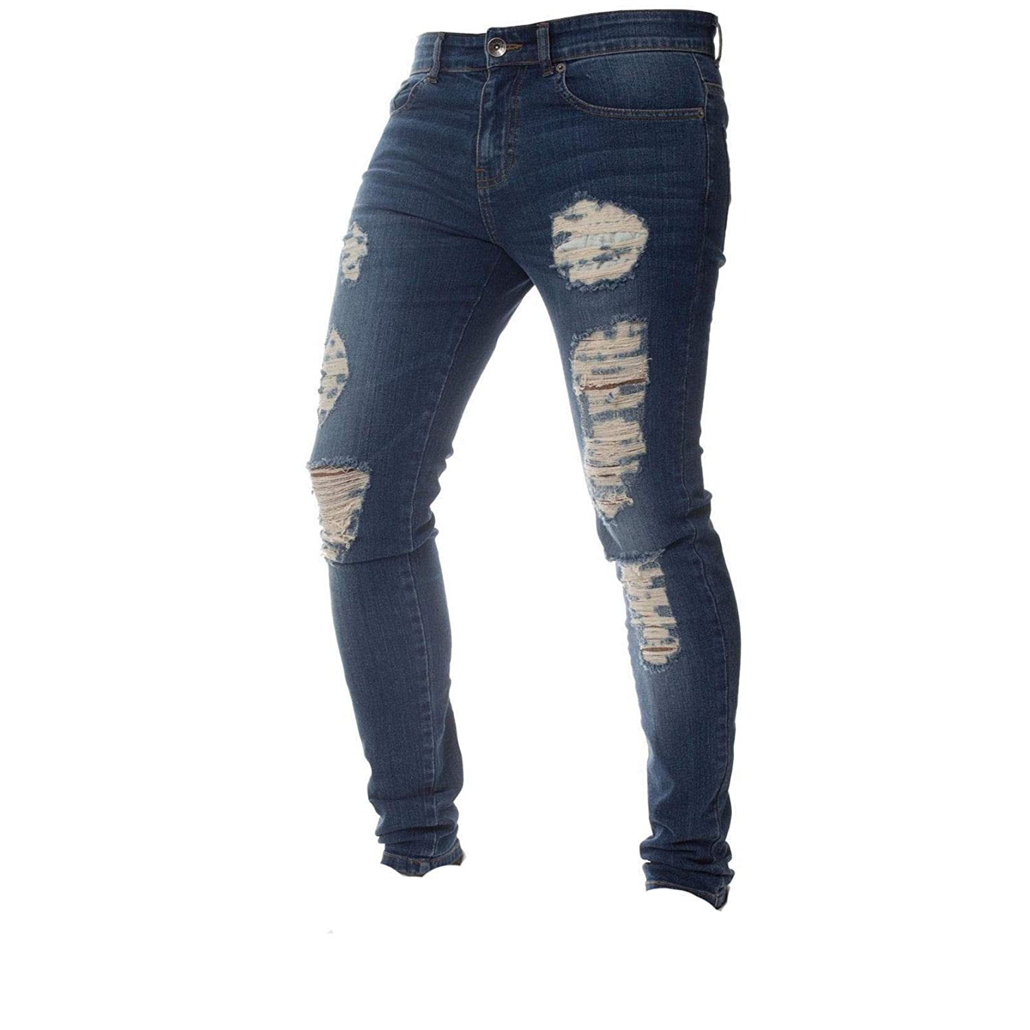 Men's Skinny Jeans Stretch Ripped Ultra-Cheap Deals Limited price Di Leg Destroyed Tapered