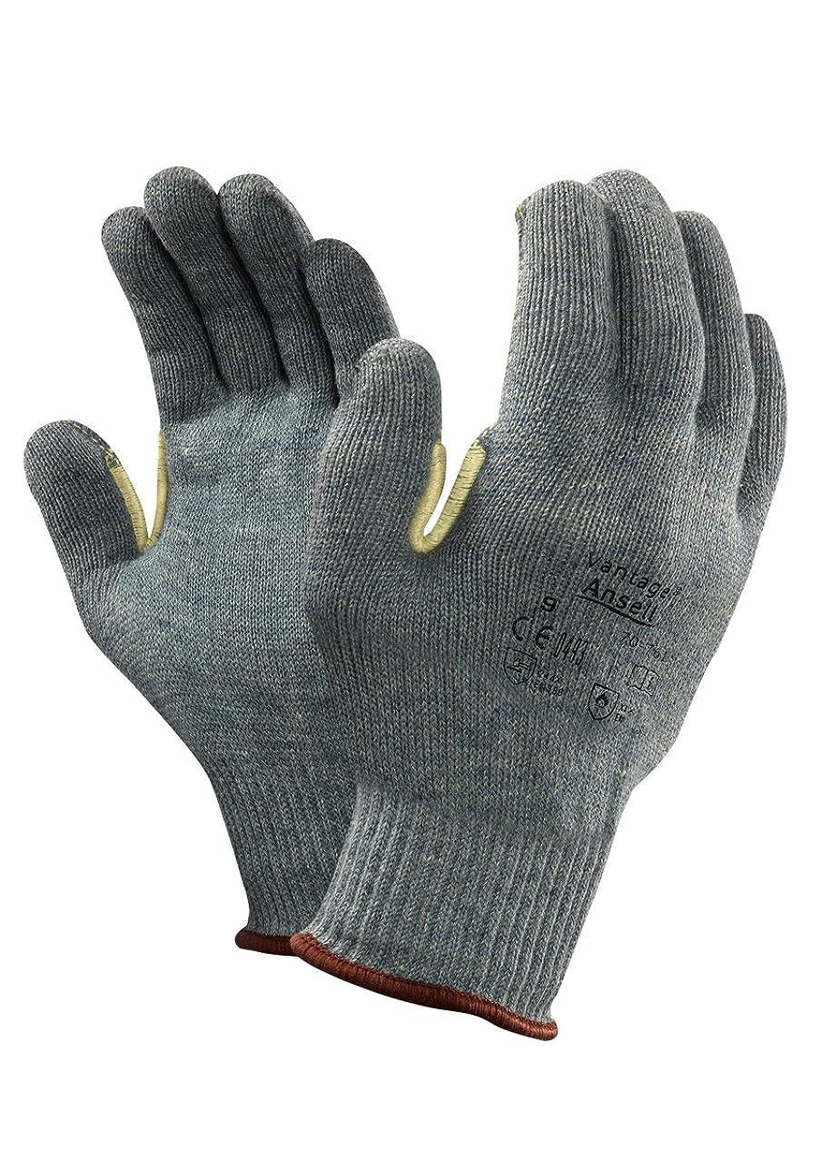 反乱災害落ちたAnsell Vantage 70-761カット保護手袋、機械的保護、グリーン、サイズ11(12ペアのパック)