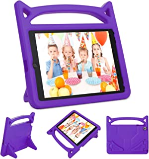Gogoing iPad 9.7 2018 2017 / iPad Air 2 / iPad Air Kids Case - Light Weight Shockproof Cover Case with Carrying Handle Stand for New Apple iPad 9.7, iPad air 2/1, iPad 6th / 5th Gen(Purple)