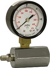 Winters PET Series Steel Dual Scale Gas Test Pressure Gauge with Polycarbonate Lens, 0-60 psi/kpa, 2