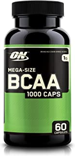 OPTIMUM NUTRITION BCAA Capsules, Keto Friendly, 1000mg, 60 Count