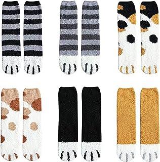 Varma strumpor med katt tassar