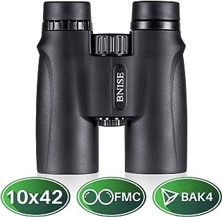 BNISE® 高倍率 双眼鏡 - ハイディフィニション10x42 大きい対物レンズ BAK4プリズム- 防水防塵及び霧防止- コンサート ドーム ランキング、バード・ウォッチング、室外運動に適用
