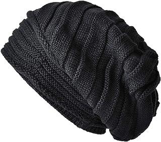 SOMALER Women Men Winter Knit Slouchy Beanie Hats Oversized Warm Lined Baggy hat