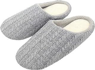 ALOTUS Unisex Classic Anti-Slip Woolen Soft Warm Comfy and Cozy Slippers Indoor