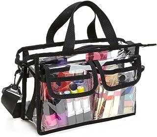 Bolsa de la Malla de la Playa, Transparente Cristal Claro Gran Capacidad Organizador Bolsa de Malla Mujer Zippered Bolso d...