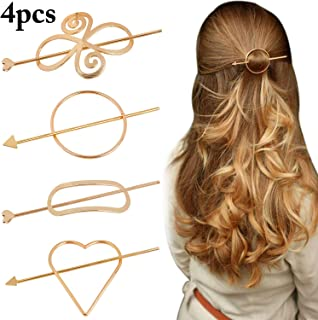 cec0e5eac Geometric Hair Clips, Fascigirl 4 Pcs Creative Hair Barrette Minimalist Hair  Claw Hair Pin Hair