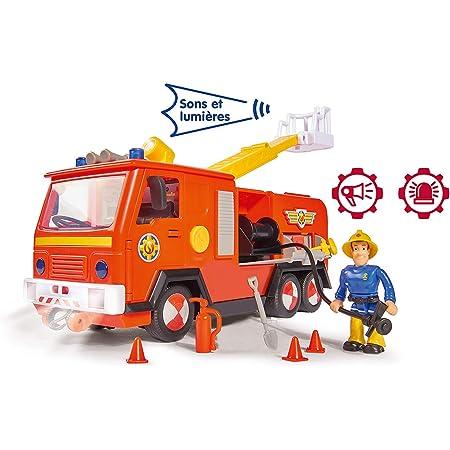 Smoby - Sam Il Pompiere, con Camion da Pompiere Jupiter, Suoni e luci + 1 figurina