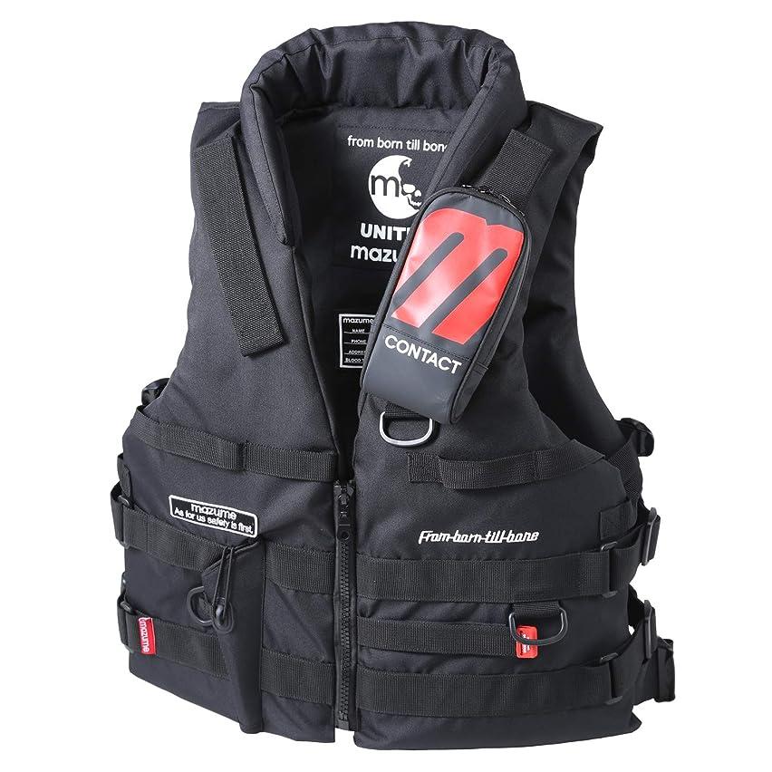 驚環境保護主義者さておきMAZUME(マズメ) MZX コンタクトライフジャケット MZXLJ-062-01 ブラック F