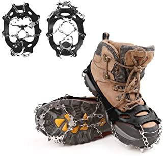 Geekper Traction Cleats for Ice and Snow, Quickly and Easily Grips Over Footwear, Portable