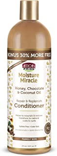 African Pride Moisture Miracle Honey, Chocolate & Coconut Oil Conditioner - Helps Repair & Replenish Moisture to Natural C...