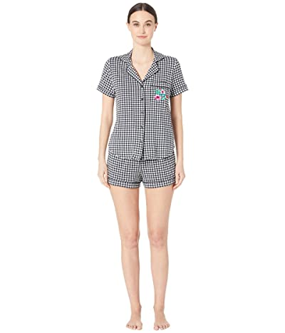 Kate Spade New York Jersey Classic Short Pajama Set (Picnic) Women