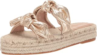 Women's Daisy Two Bow Espadrille Platform Sandal Champagne 6 B US