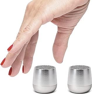 Lexon Twin MINO - Ultra Portable Bluetooth Speaker & Selfie Remote - Rechargable - Polished Aluminum