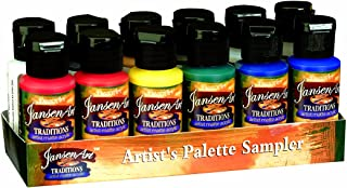 DecoArt 1-Ounce Traditions Acrylic Palette Sampler
