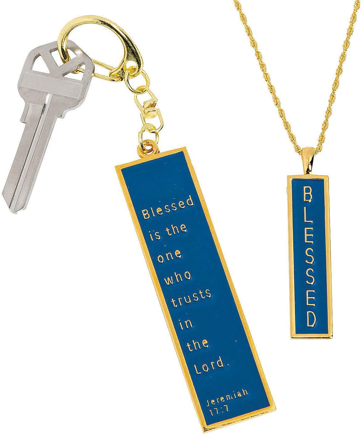Fun Express Blessed Pendant & Key Ring Set - Jewelry - 1 Piece