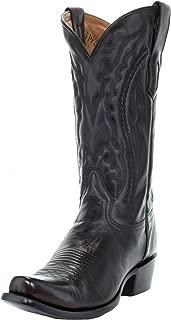 Men's Black Cherry Narrow Square Toe Boots