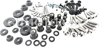GHMotor Complete Fairings Bolts Screws Fasteners Kit Set Made in USA for 2003 2004 2005 R6 2006 2007 2008 2009 R6S - Silver