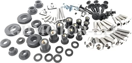 2008 2009 2010 GSXR GSX-R 600 750 Complete Fairings Bolts Screws Fasteners Kit Set Made in USA Silver