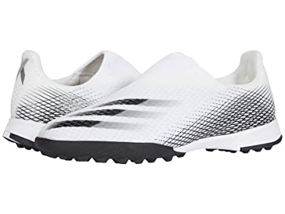 adidas Kids X Ghosted 3 LL TF J Soccer (Little Kid/Big Kid) (Footwear White/Core Black/Footwear White) Kids Shoes