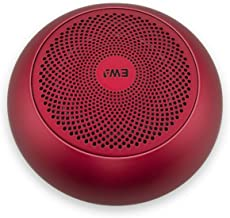 A110 TWS Mini Bluetooth Speakers,Metal Portable Speaker with Hard Travel Case Packed, TWS funtion can Pair Two Speakers to Enjoy Stereo Sound and Enhanced Bass (Red)