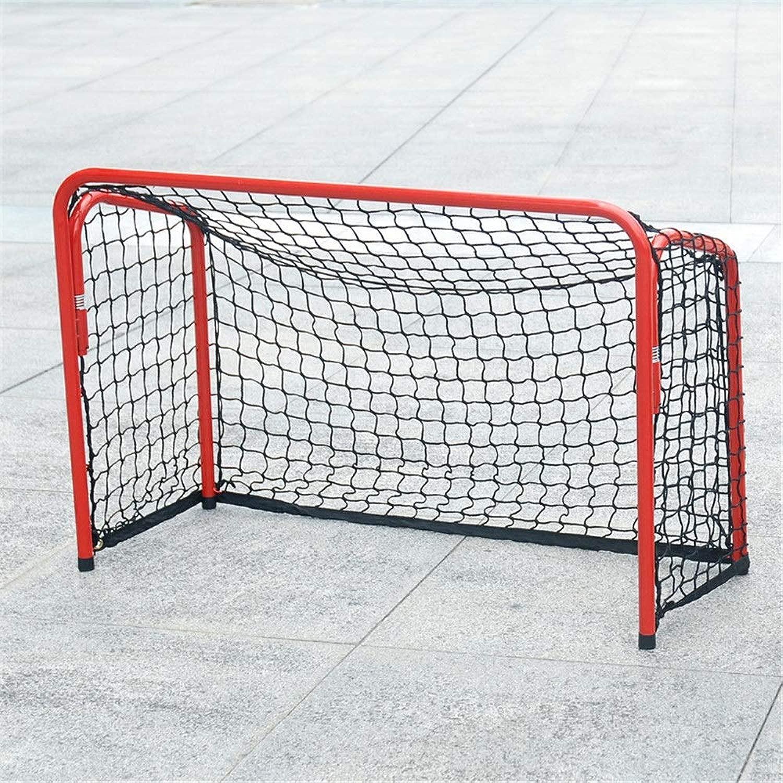 アウトドアスポーツアクセサリー 速い折る鉄の管のサッカーの目的/ホッケーの目的のフットボールのゲートの子供の携帯用耐久および適用範囲が広い学生サッカー (色 : 赤, サイズ : T6)