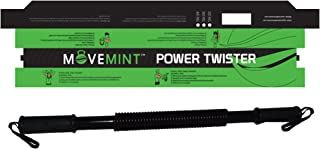 MOVEMINT Power Twister Chest Resistance Spring Bar Exerciser (20KG to 100KG Options)