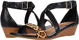 Black/Leopard Tan
