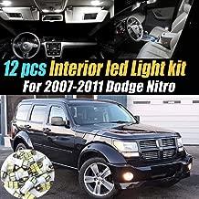 12Pc Super White 6000k Car Interior LED Light Bulb Kit Pack Compatible for 2007-2011 Dodge Nitro