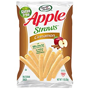 Sensible Portions Apple Straws, Cinnamon, Snack Size, 1 Oz (Pack of 8)