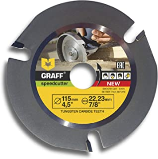 Grinder Wood Carving Disc GRAFF Speedcutter 4-1/2-Inch, Circular Saw Blade for Angle Grinder - Woodcarving Saw Blade 7/8