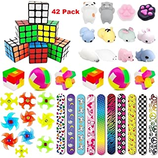 Party Favors For Kids Toys Assortment Bundle, Carnival Prizes, Birthday Party, Prizes Box Toy, Classroom Rewards, Pinata Filler, Treasure Box, Goodie Bag Filler, School Game Supplies(42 Pack)