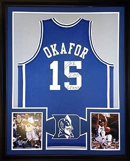 Jahlil Okafor Duke Blue Devils Autograph Signed Custom Framed Jersey Inscribed Schwartz Sports Certified