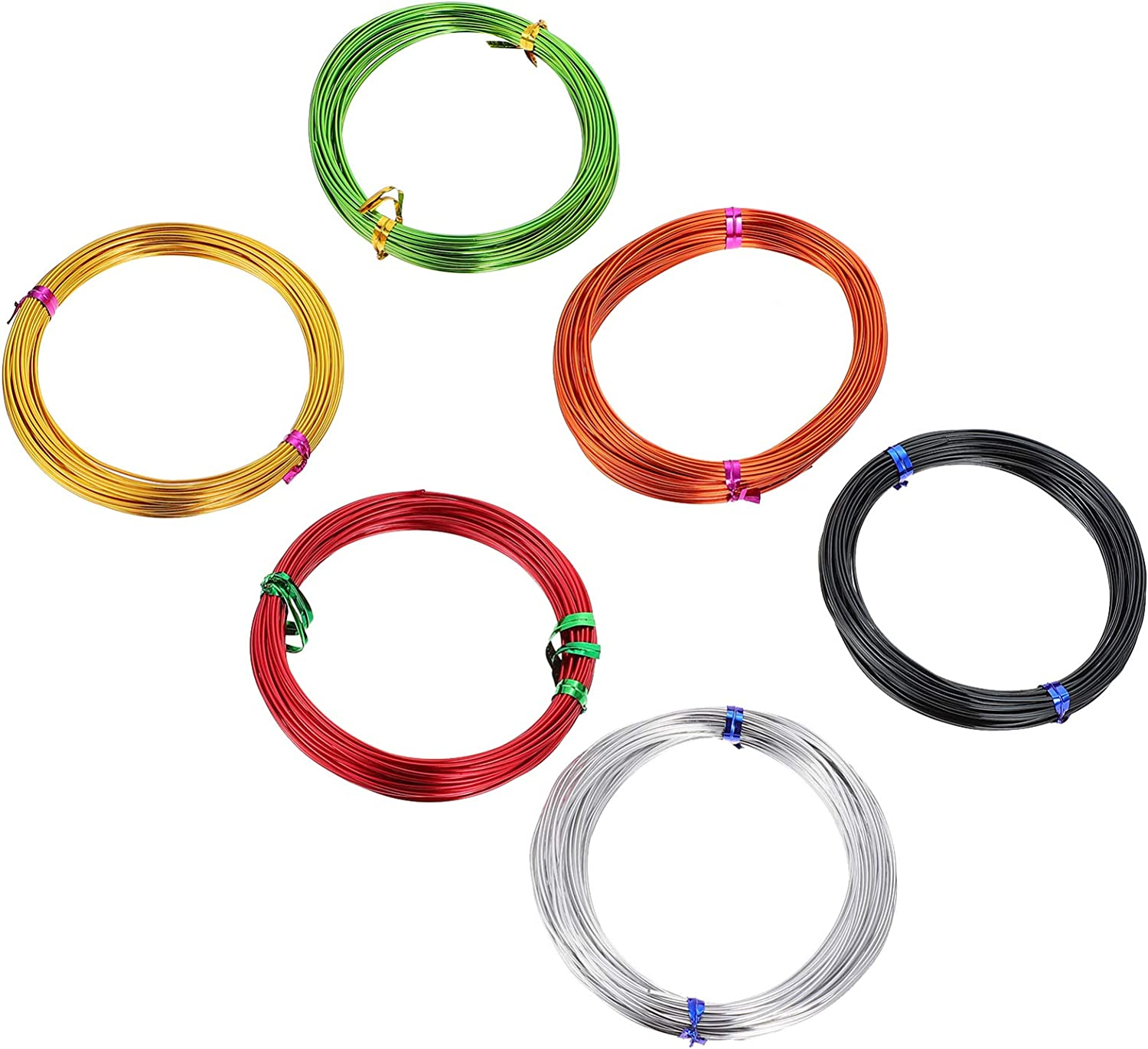EXCEART 6 Pcs Colored Aluminum Max 48% OFF Artisti Wire Metal Craft Flexible Max 77% OFF