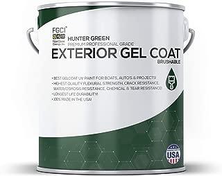 Hunter Green Boat Paint, Brushable Exterior Gel Coat KIT, 1 Quart W/ 1 OZ MEKP, Professional Marine GELCOAT Specialists, Boat Exterior Hulls, Boat Interior Decking, DIY Projects