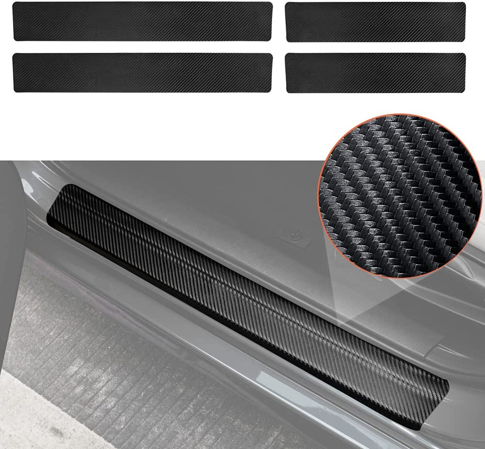Thenice Door Entry Guard Sticker Ba Carbon 5 ☆ popular Style Fiber Be super welcome Threshold