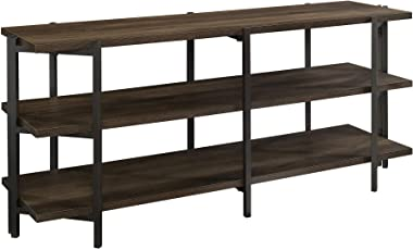 "Sauder North Avenue Credenza, for TVs up to 54"", Smoked Oak"