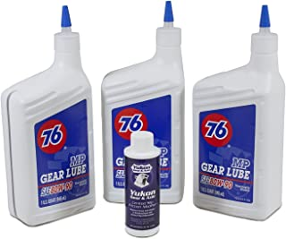 Yukon Gear & Axle (OK 3-QRT-Conv-A) 80W90 Conventional Gear Oil with Positraction Additive - 3 Quart